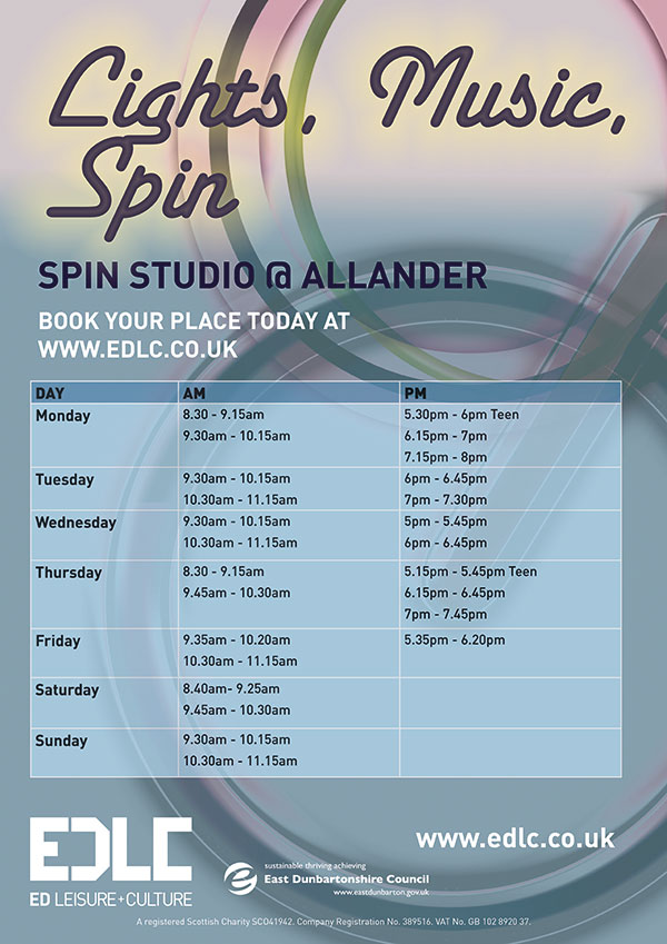 Spin timetable
