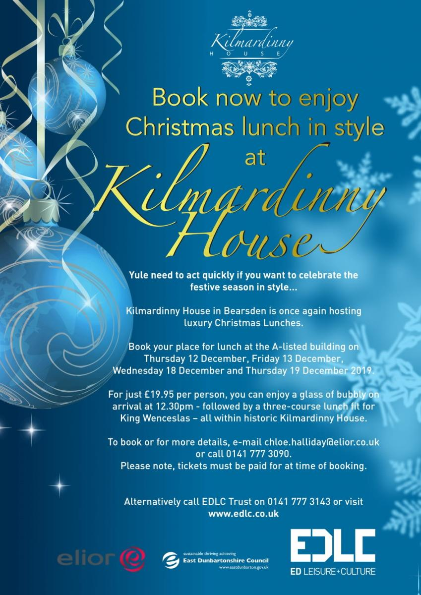 Christmas lunch leaflet