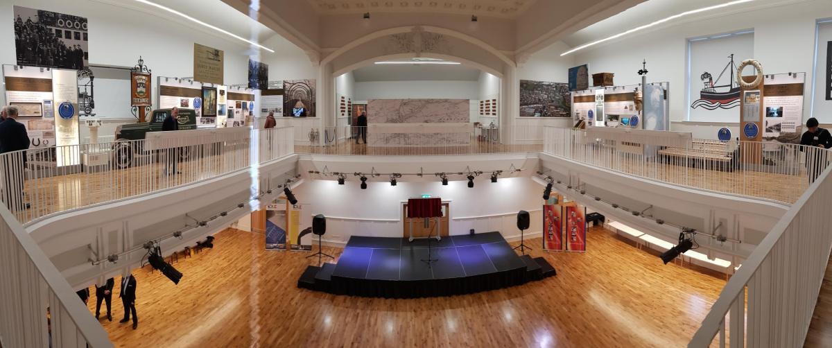 Internal view of Kirkintilloch town hall