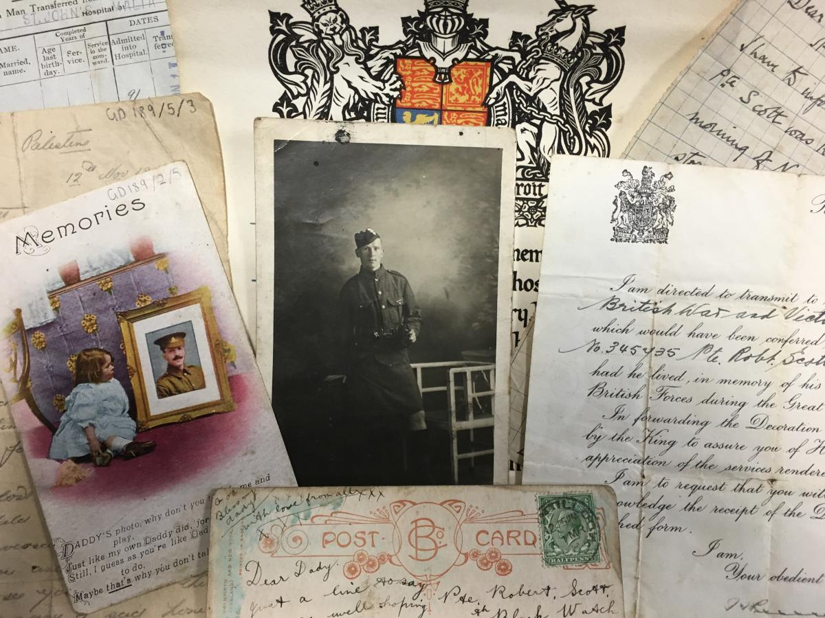 image of letters postcards and photographs
