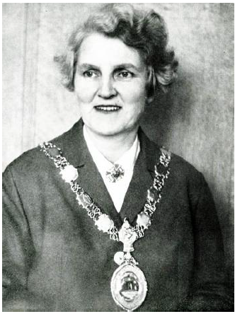 Black and white photograph of Jenny Coutts