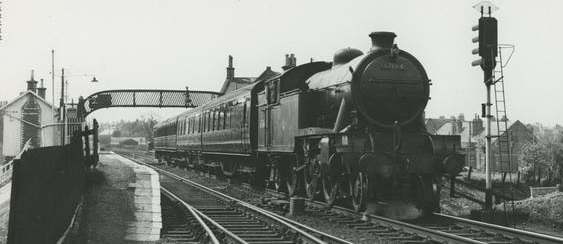 Photograph of train leaving the station