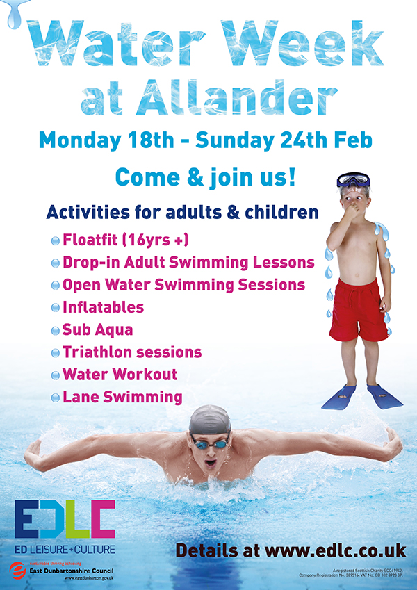 A poster for water week in Allander